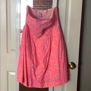 Lightly worn strapless Lily Pulitzer dress